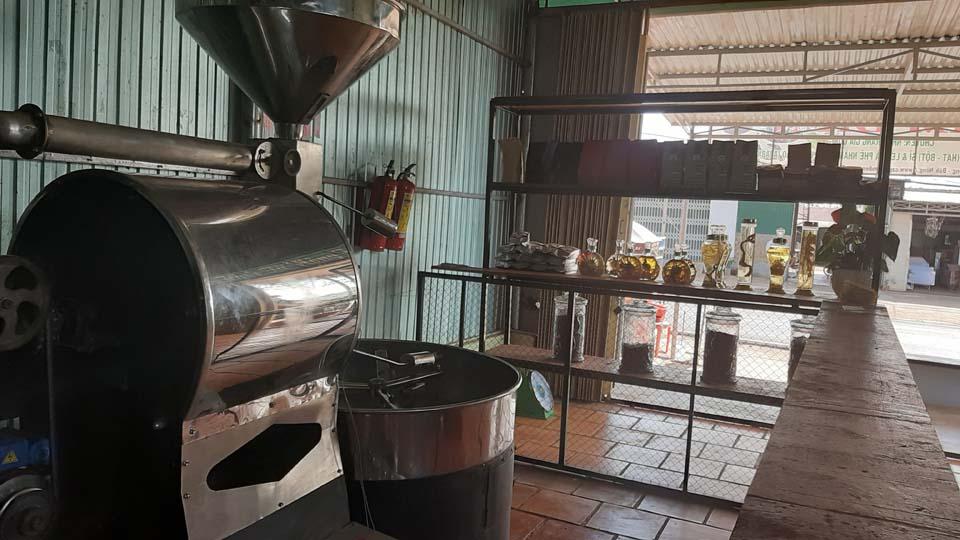 MÁY RANG 30KG tại cở sở kim điền. chuyên nhận rang gia công cà phê giá rẻ tại đắkglong đắk nông